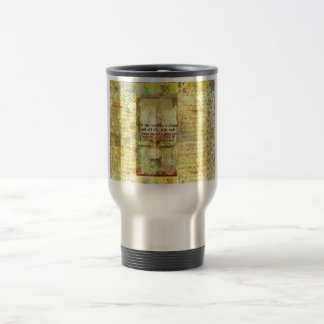Shakespeare quote All the world's a stage ART Travel Mug