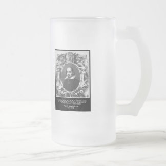 Shakespeare Quote ~ All The World's A Stage Frosted Glass Beer Mug