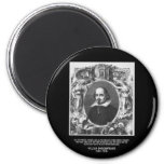 Shakespeare Quote ~ All The World's A Stage Fridge Magnets