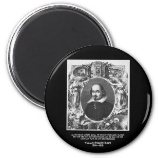 Shakespeare Quote ~ All The World's A Stage 2 Inch Round Magnet