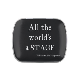 Shakespeare Quote All the World's a Stage Quotes Jelly Belly Candy Tin