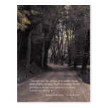 Shakespeare Quote; Bend in the Buffalo Road Postcard