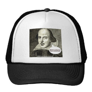 Shakespeare quote; Better a witty fool than a fool Mesh Hats