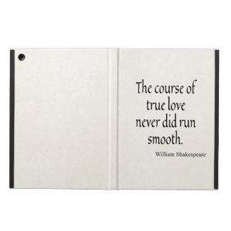 Shakespeare Quote Course of True Love Run Smooth iPad Air Cases