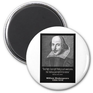 Shakespeare Quote ~ Good Night, Good night! 2 Inch Round Magnet