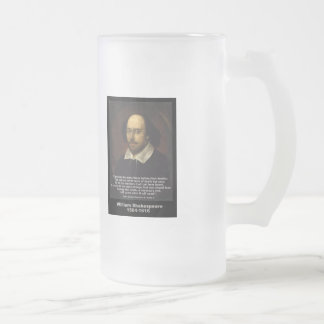 Shakespeare Quote ~ Julius Caesar Frosted Glass Beer Mug