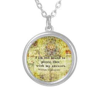 Shakespeare Quote Necklaces