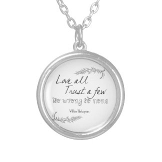 Shakespeare Quote Personalized Necklace