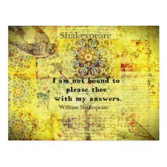 Shakespeare Quote Post Card
