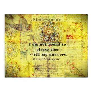 Shakespeare Quote Postcard