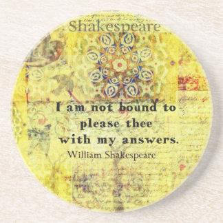 Shakespeare Quote Sandstone Coaster
