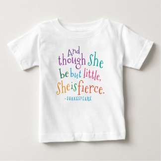 Shakespeare Quote She Is Fierce Girls Tshirt