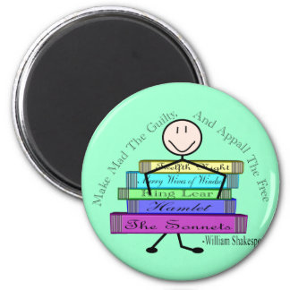 Shakespeare Quote Stick People Design Magnets