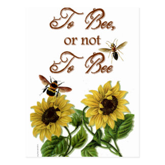 Shakespeare Quote To Bee To Be Funny Postcard
