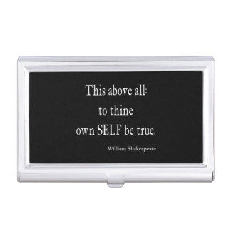 Shakespeare Quote To Thine Own Self Be True Quotes Case For Business Cards