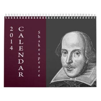 Shakespeare Quotes.  2014 Calendar