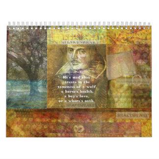 Shakespeare quotes Custom Printed Calendar