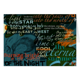 Shakespeare Quotes Love Poetry Dark Greeting Card