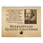 Shakespeare Quotes Yearly Calendar