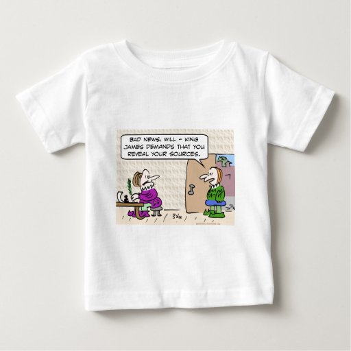 shakespeare reveal sources king james baby T-Shirt