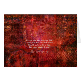 Shakespeare romantic LOVE quotation Cards