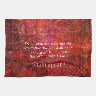 Shakespeare romantic LOVE quotation Kitchen Towel