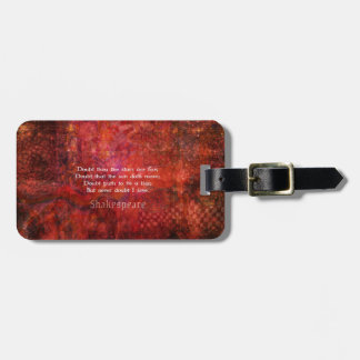 Shakespeare romantic LOVE quotation Bag Tag