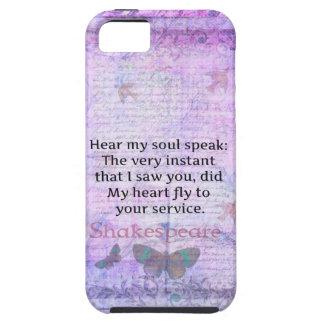 Shakespeare Romantic Love quote art typography iPhone SE/5/5s Case