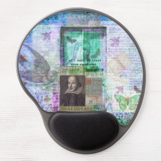 Shakespeare romantic whimsical LOVE quote with art Gel Mouse Pad