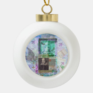 Shakespeare romantic whimsical LOVE quote with art Ornaments