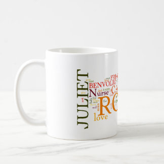Shakespeare Romeo & Juliet Word Cloud Coffee Mug