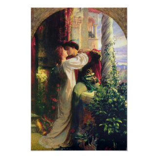 Shakespeare Romeo y Juliet por el poster de Bernar