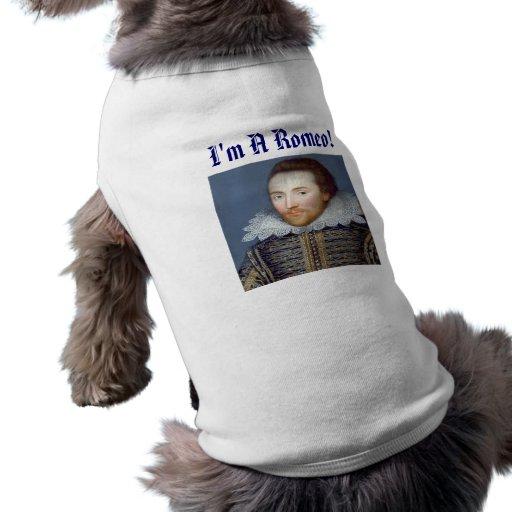 Shakespeare Prenda Mascota