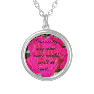 Shakespeare & Roses Silver Plated Necklace