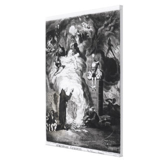 Shakespeare Sacrificed, or The Offering to Canvas Print