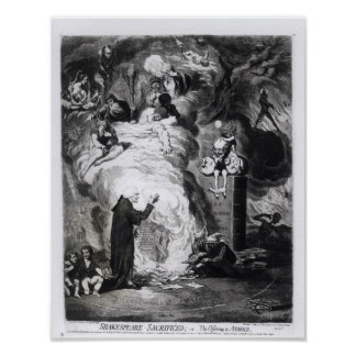 Shakespeare Sacrificed, or The Offering to Poster