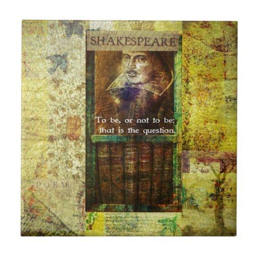 Shakespeare - ser, o no ser azulejos ceramicos