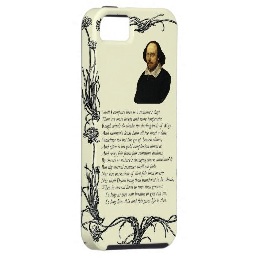 Shakespeare Shall I compare thee to a summer's day iPhone 5 Cases