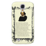 Shakespeare Shall I compare thee to a summer's day Samsung Galaxy S4 Cover