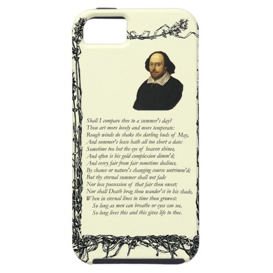 Shakespeare Shall I compare thee to a summer's day iPhone SE/5/5s Case