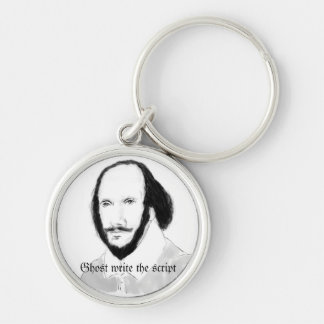 Shakespeare Silver-Colored Round Keychain