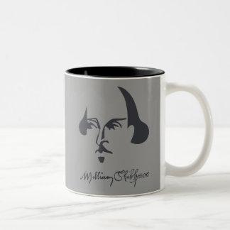Shakespeare simple con la firma taza dos tonos