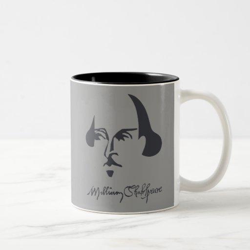 Shakespeare simple con la firma tazas