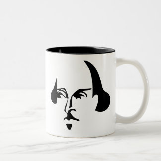 Shakespeare simple taza de dos tonos
