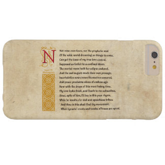 Shakespeare Sonnet 107 (CVII) on Parchment Barely There iPhone 6 Plus Case