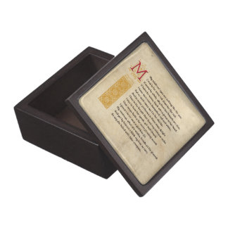 Shakespeare Sonnet 130 (CXXX) on Parchment Gift Box