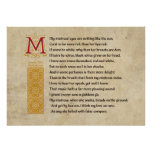 Shakespeare Sonnet 130 (CXXX) on Parchment Poster