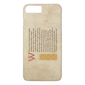 Shakespeare Sonnet 135 (CXXXV) on Parchment iPhone 8 Plus/7 Plus Case