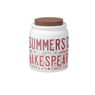 Shakespeare Sonnet 18 Candy Jar