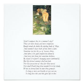 Shakespeare Sonnet # 18 Card